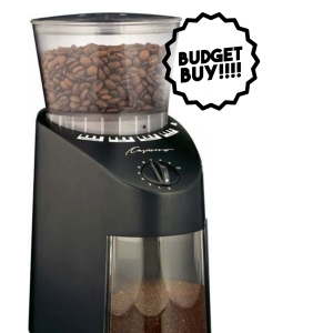capresso burr electric coffee grinder