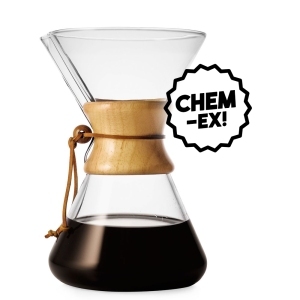 chemex pour over glass coffee maker